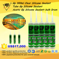 300ml Tube Acetic Gp Clear Glass Silicone Sealant