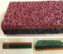 Full pour EPDM granule athletic track surfacing synthetic tartan track rubber running track