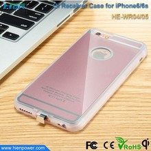 Ultra slim Qi standard universal wireless receiver case, phone protect back cover for iphone 6