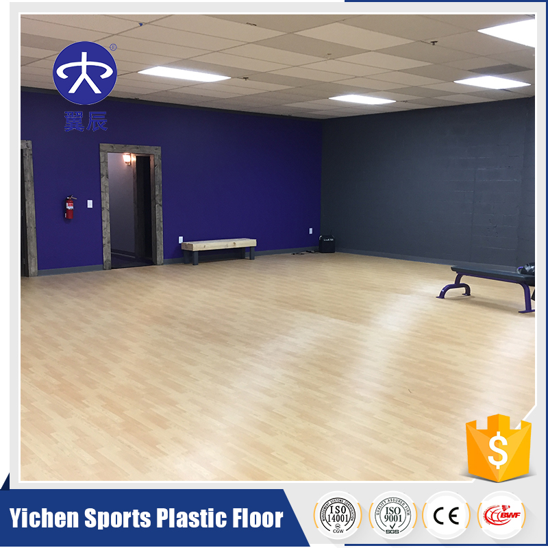 New Products Maple PVC Sports Flooring Indoor Gym Noise Reduction Rubber Flooring Price