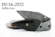 Damascus Steel Folding Knife DD-14-2572