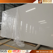 Man made artificial faux quartz marble stone slab / sheet / panel , crystal white silestone tiles