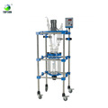 Manufacturer Price Laboratory Pyrex Chemical Flow Reactor/glass Reaction Vessel