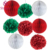 Wedding paper flowers party decoration hanging paper pom poms