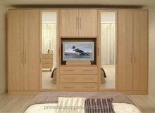 Customed bedroom walk-in robe wardrobes with tv cabinet