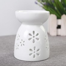 china oil diffuser flower rose lotus candle holder hollow ceramic aroma stove