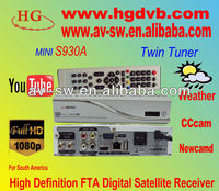 Az america S930A decodificador satelital twin tuner nagra 3 with IKS SKS