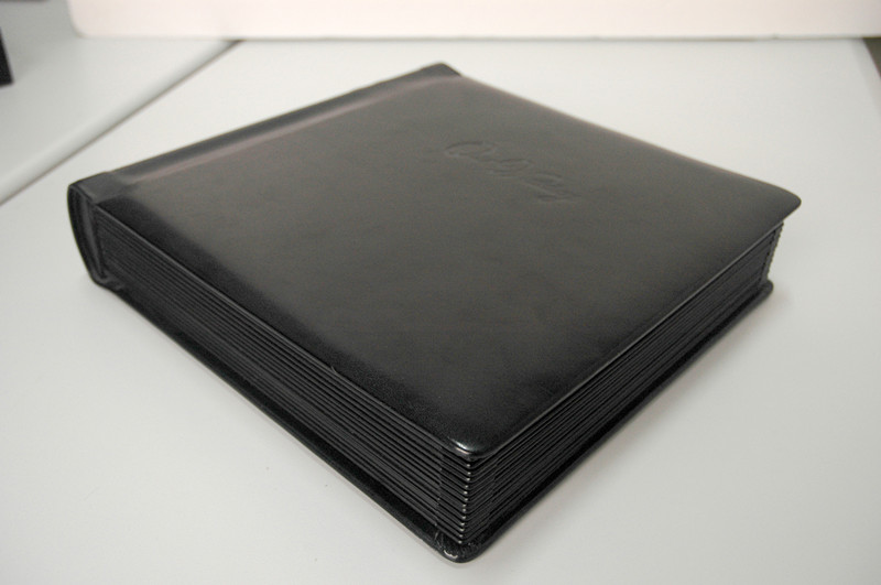 nice front cover wedding leather photo album