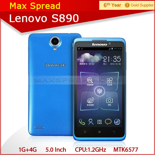 android 4.0 Dual Core 1.2GHz MTK6577 8Mp Camera mobile phone Lenovo S890