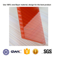 4 to16mm UV Protected and High light Transmission Twin-wall Polycarbonate sheet