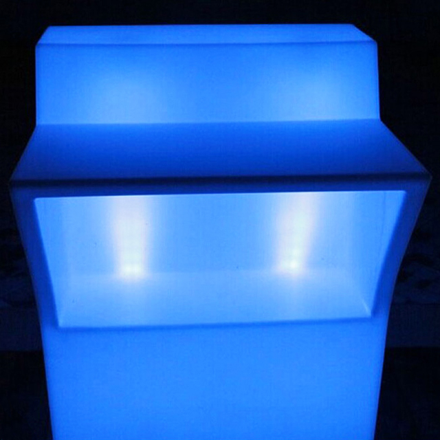 battery operated nightclub led plastic lighted illuminated bar counter