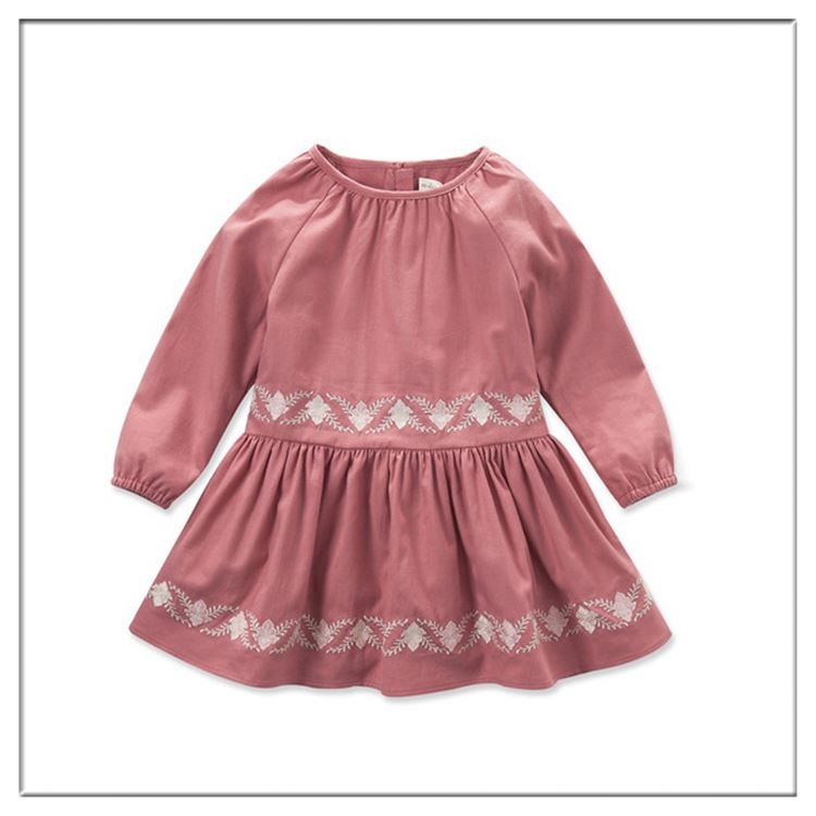 New Child Clothing Baby Girl Birthday Dress Lace Embroidery Baby Clothing