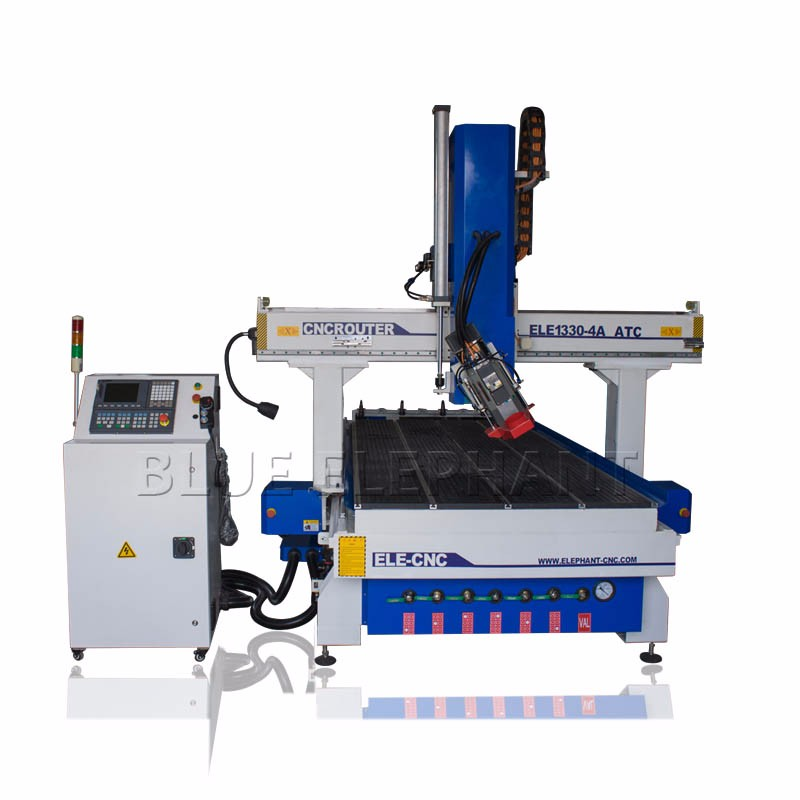 ELE 1330 High Z travel atc cnc 4 axis , cnc router engraver machine , with hsd air cooling spindle