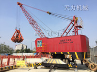 tyre mounted mobile crane mine and port used