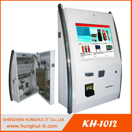 Wall Mount Touch Screen Kiosk With Ticket Printer And Barcode Scanner