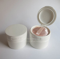 4 oz big plastic cosmetic loose powder container jar with sifter