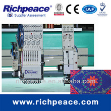 Richpeace mixed coiling embroidery machine with taping,zigzag,cording,frilling functions in one machine Hot Slae on Exhibition