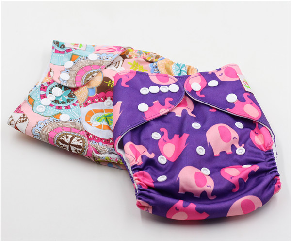 Ohbabyka Fashion Adjustable Reusable Customized naughty baby cloth diaper