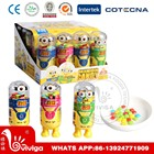6g cute yellow cartoon mini candy toys with Mix Fruit gum candy