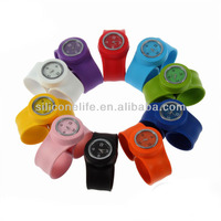 2014 Fashion wholesale adults kids Slap Silicone Watches