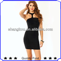 2016 Halter neck women party Mini dresses straps sexy night dress models shkA104