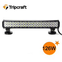 aluminum housing led light bar 126W, used cars led light bar,emergancy light car and truck