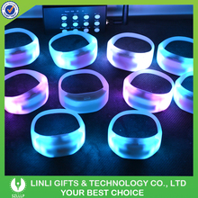 Wedding Favor Colorful Glowing Led Wristband Remote Controlled