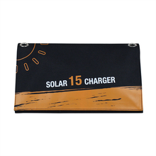 15W Portable Folding Solar Power Bank Waterproof Solar Charger