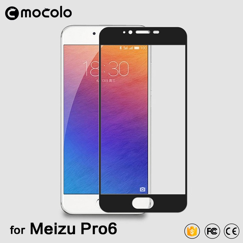 For Meizu Pro 6 Touch screen protecter tempered glass 0.33mm flim glass Japan material color full cover tempered glass
