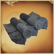 Asian style garden house grey unglazed chinese clay roof tiles