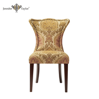 High quality high back wooden solid wood carved dining chair