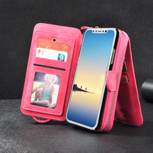 Purse Phone Mirror Wallet Cover Case For Apple iPhone X