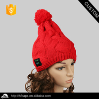 Fashion wireless women's bluetooth hat, Winter knitted lady hat