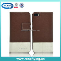 Wholesale cell phone leather pu flip case for iphone 5