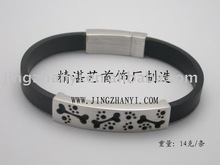 925 silver leather bracelet,fashion bracelet with Flower design