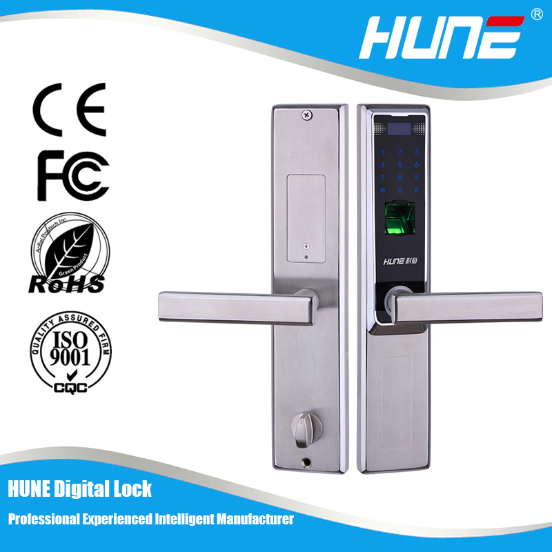high quality biometric fingerprint sensor door lock with touch screen keypad