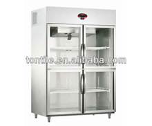 [Tontile] A style air cooling glass display refrigerator VAR1000L4H-S