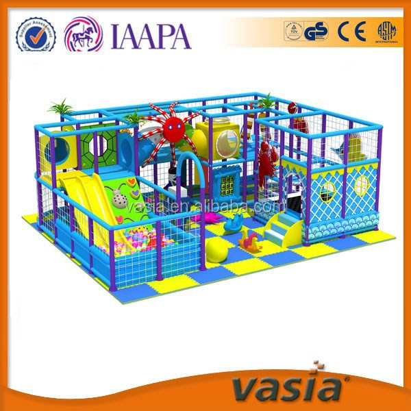 blue color animal theme kids indoor tunnel playground