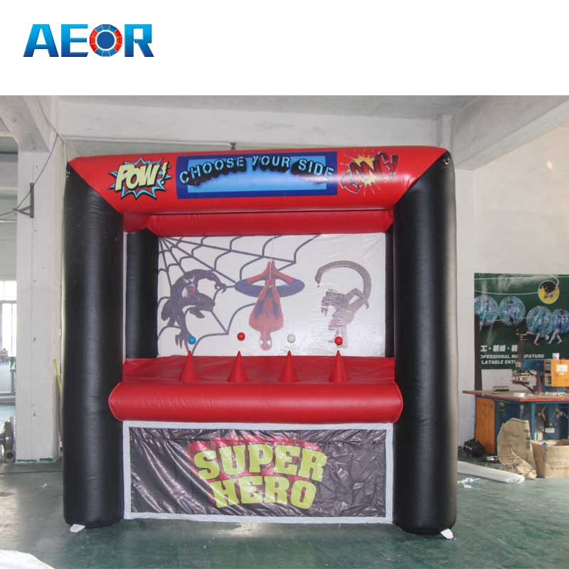 New design Spider-Man theme inflatable archery target sport game equipment with hover ball price