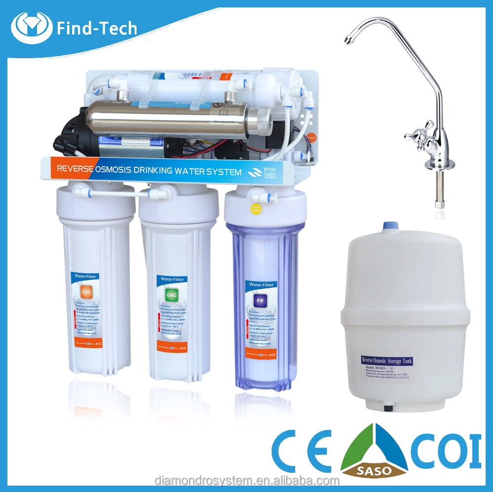 coconut shell charcoal filter 7 stage uv light alkaline water filter machine