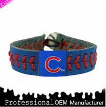 DS jewelry factory Aminco Chicago Cubs Classic MLB Gamewear make Leather Baseball Bracelet B-3