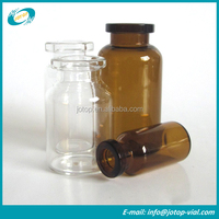 Clear and Amber Medical Glass Penicillin Bottles