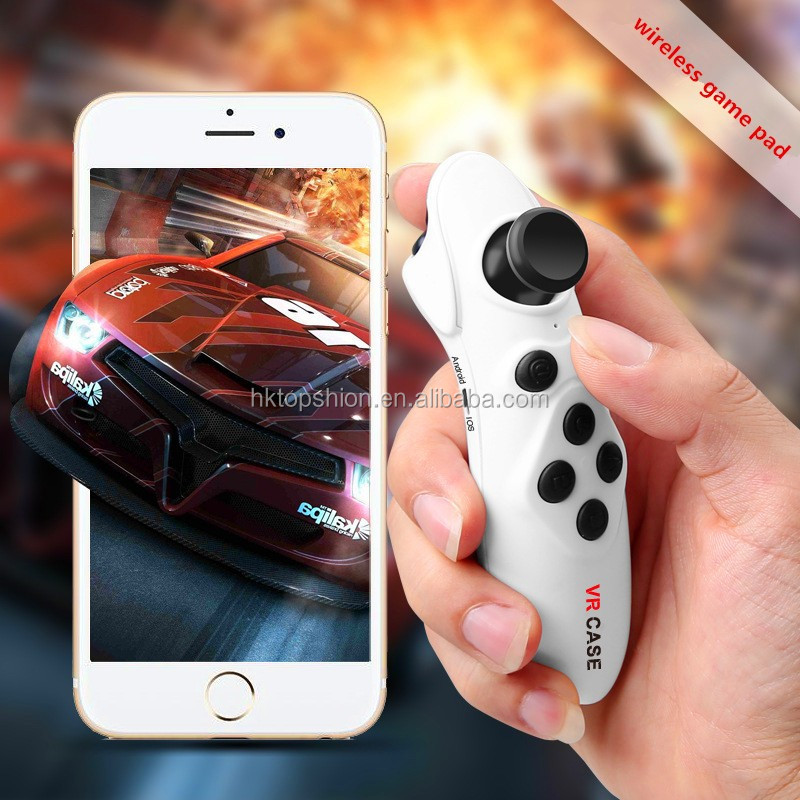 2017 hot selling vr box remote control wireless vr glasses remote game pad for ios and android