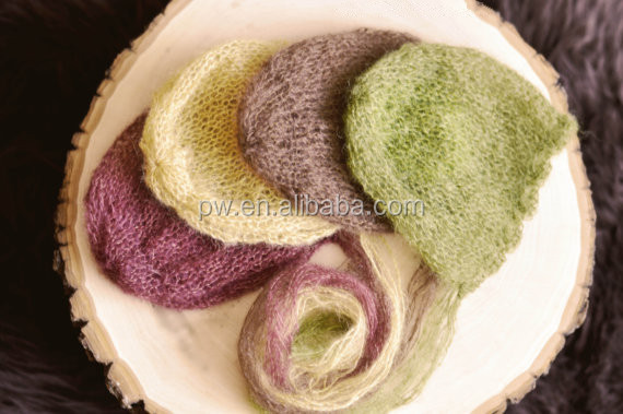Lacey bonnet Mohair Newborn hat Photo props Hand knitted baby hat photography prop Baby mohair hat