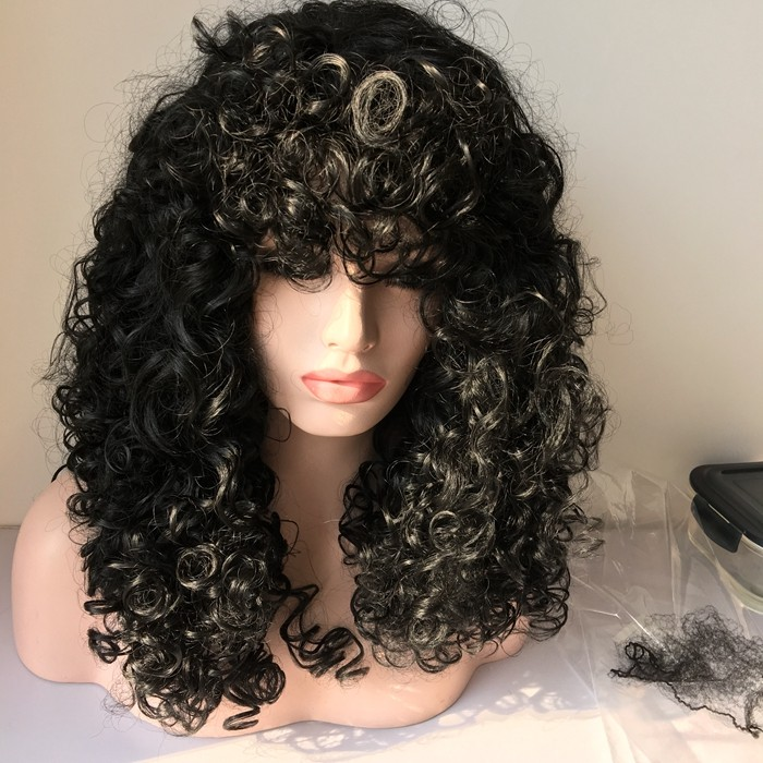 Short Curly Wigs For Black Women, Malaysian Human Hair Afro Kinky Curly Wigs Lace Front Wigs