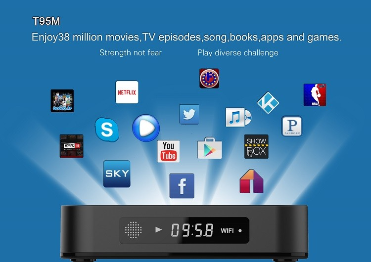 Draognworth The Newest t95 m streaming smart box full HD media player Android TV box 4K