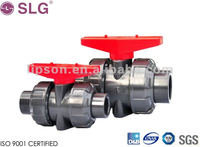 PVC Double Union Ball Valve / Pipe Fitting