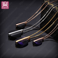 black pendants fashion costume necklace jewelry