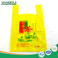 plastic t-shirt bag 100% biodegradable shopping bag new product hot sale eco-friendly recycled bags