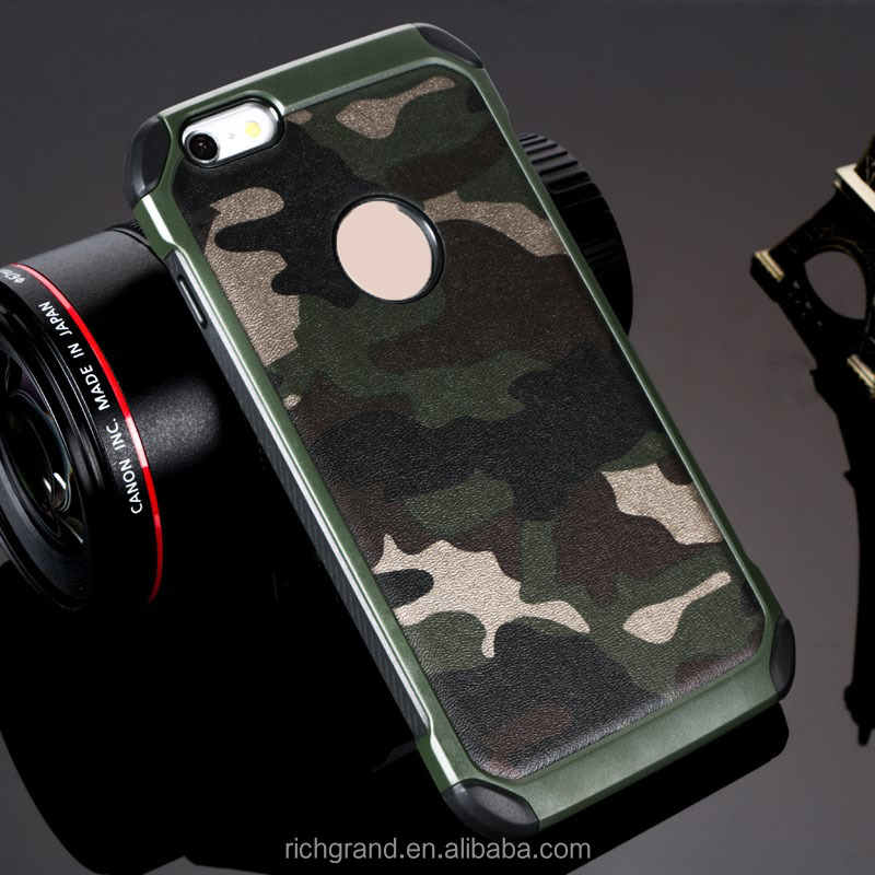 R.G Armor Plastic TPU Army shock proof Camouflage phone case for iPhone X 8 8 Plus